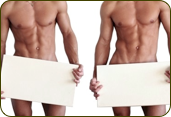 male chest and back wax